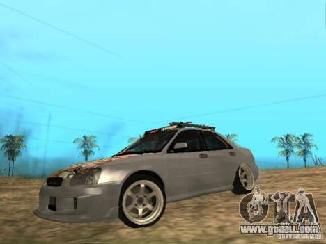 Subaru Impreza WRX for GTA San Andreas back left view