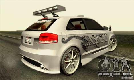 Audi A3 Tunable for GTA San Andreas interior