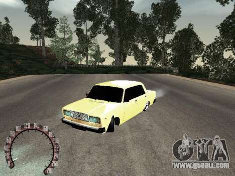 VAZ 2107 Gold for GTA San Andreas