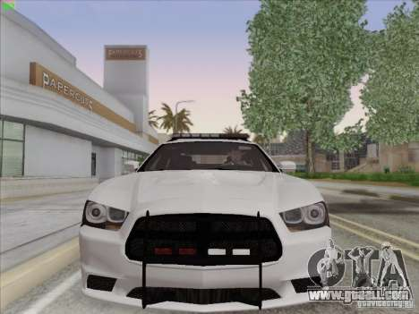 Dodge Charger 2012 Police for GTA San Andreas left view