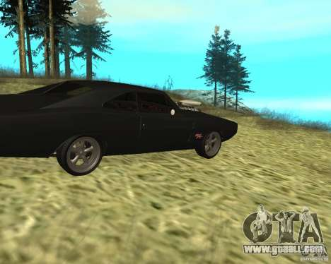 Dodge Charger R/T 1970 for GTA San Andreas right view