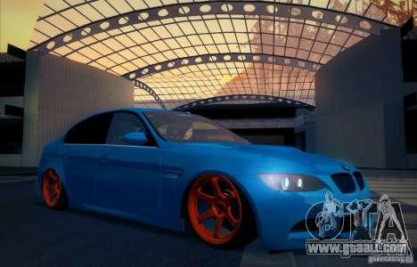 BMW M3 E90 for GTA San Andreas bottom view