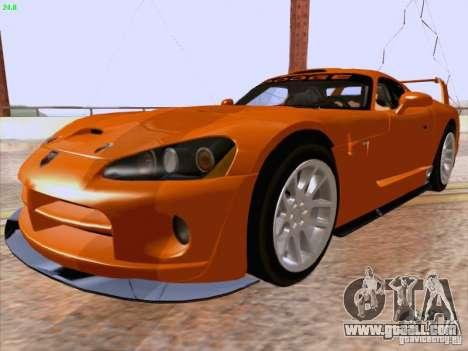 Dodge Viper GTS-R Concept for GTA San Andreas