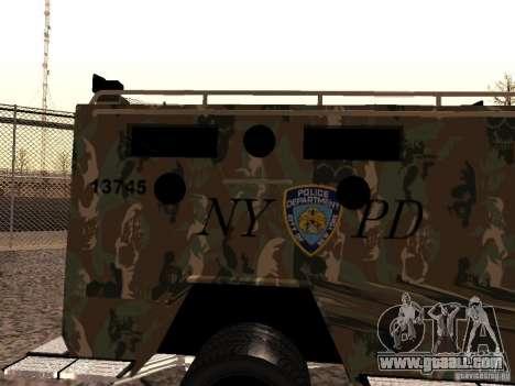 Lenco Bearcat NYPD for GTA San Andreas back left view