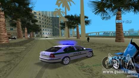 Skoda Octavia 2005 for GTA Vice City upper view