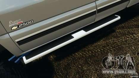 Chevrolet Silverado 2500 Lifted Edition 2000 for GTA 4 wheels