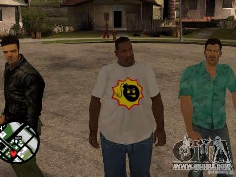 New t-shirt for GTA San Andreas second screenshot