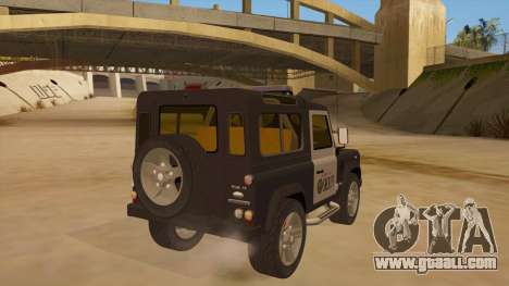 Land Rover Defender Sheriff for GTA San Andreas right view