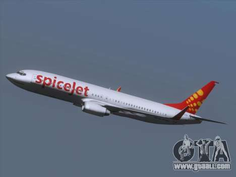 Boeing 737-8F2 Spicejet for GTA San Andreas upper view