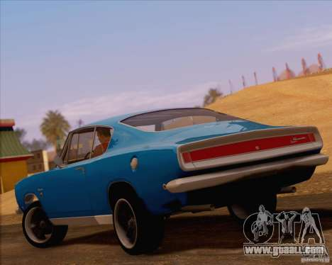 Plymouth Barracuda 1968 for GTA San Andreas back left view