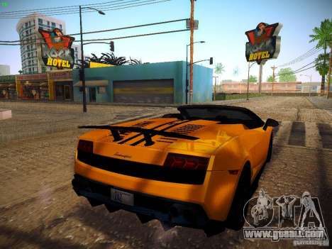 Lamborghini Gallardo LP570-4 Spyder Performante for GTA San Andreas back left view