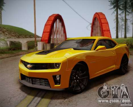 Chevrolet Camaro ZL1 v2.0 for GTA San Andreas