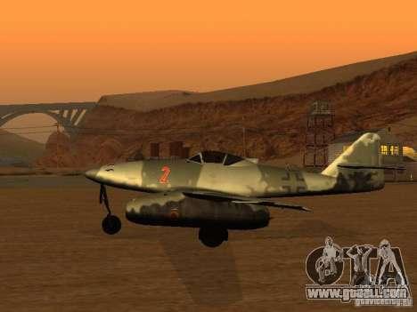 Messerschmitt Me262 for GTA San Andreas left view