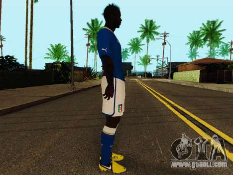 Mario Balotelli v4 for GTA San Andreas second screenshot