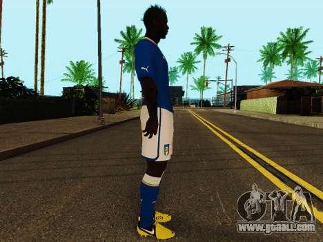 Mario Balotelli v4 for GTA San Andreas second screenshot