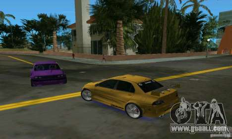Mitsubishi Lancer Evo for GTA Vice City right view