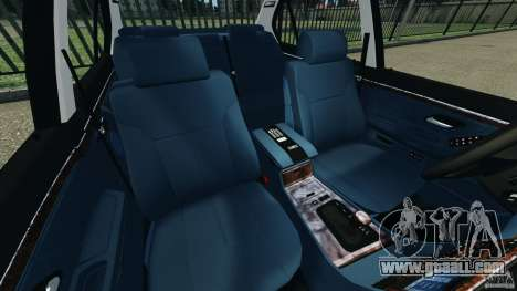 BMW 750iL E38 1998 for GTA 4 inner view