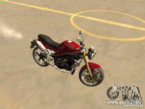 Bike Triumph for GTA San Andreas back left view