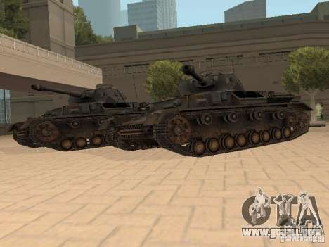 Pzkpfw IV for GTA San Andreas