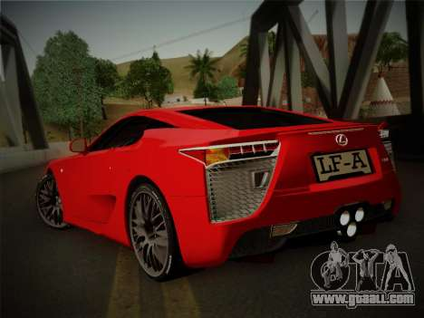 Lexus LFA Nürburgring Edition for GTA San Andreas left view