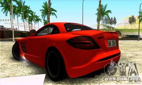 Mercedes Mclaren SLR 722 for GTA San Andreas left view