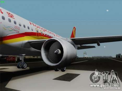 Airbus A320-214 Hong Kong Airlines for GTA San Andreas left view