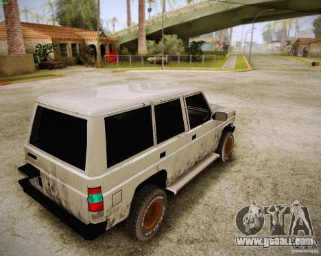 Daihatsu Taft Hiline Long for GTA San Andreas back left view