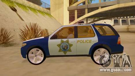 Saab 9-7X Police for GTA San Andreas left view