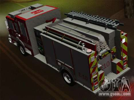 Pierce Saber LAFD Engine 10 for GTA San Andreas engine