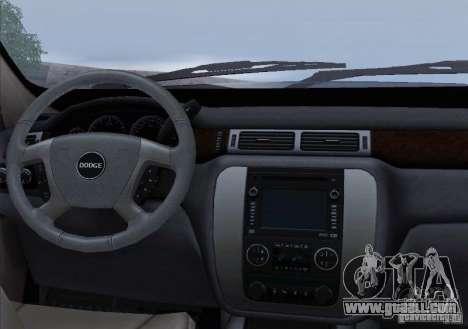Dodge Ram Ambulance for GTA San Andreas interior