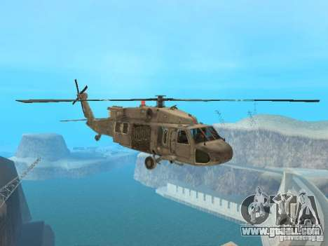 The UH-60 from COD MW3 for GTA San Andreas