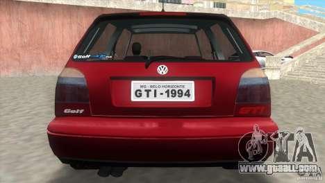 Volkswagen Golf GTI 1994 for GTA Vice City left view