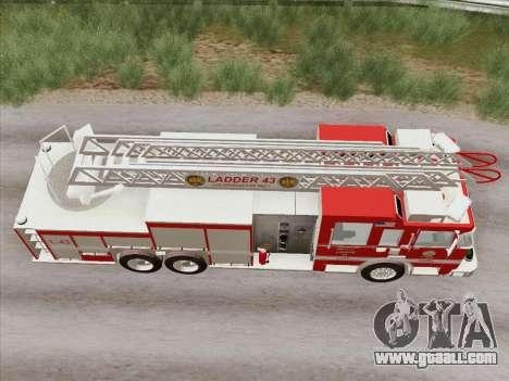 Pierce Arrow LAFD Ladder 43 for GTA San Andreas side view