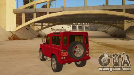 Land Rover Defender for GTA San Andreas back left view