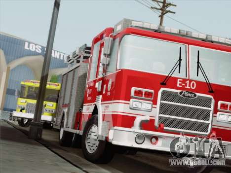 Pierce Saber LAFD Engine 10 for GTA San Andreas left view