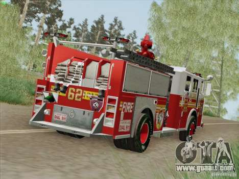 Seagrave Marauder II Engine 62 SFFD for GTA San Andreas left view