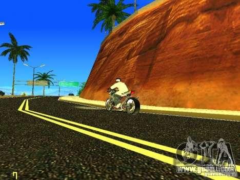 Kawasaki Z400 for GTA San Andreas left view