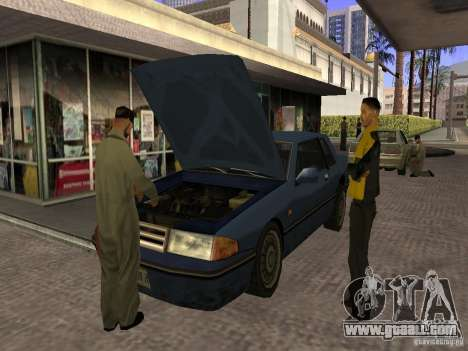 Busy gas station in Los Santos for GTA San Andreas third screenshot