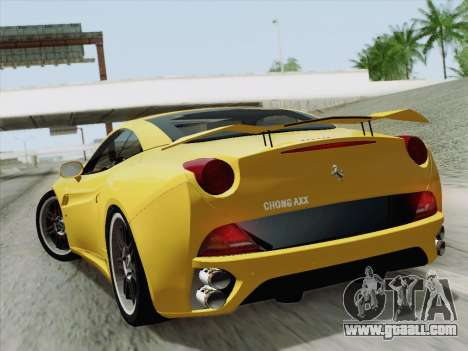 Ferrari California for GTA San Andreas right view