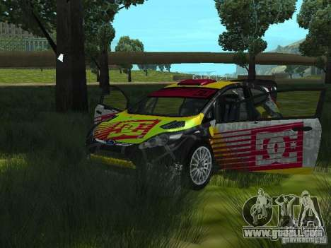 Ford Fiesta H.F.H.V. Ken Block Gymkhana 5 for GTA San Andreas back view