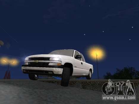 Chevorlet Silverado 2000 for GTA San Andreas bottom view