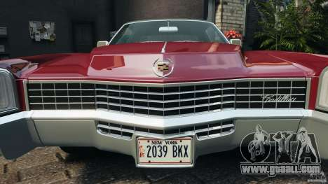 Cadillac Eldorado 1968 for GTA 4 engine