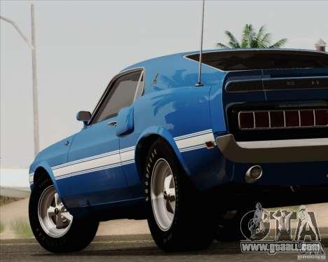 Shelby GT500 428 Cobra Jet 1969 for GTA San Andreas interior