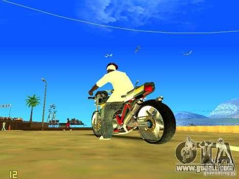 Kawasaki Z400 for GTA San Andreas right view