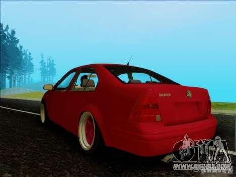 Volkswagen Bora HellaFlush for GTA San Andreas back left view