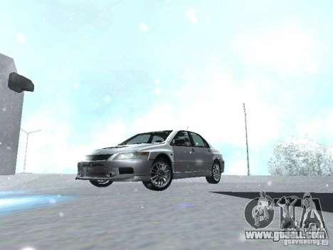 Mitsubishi Lancer Evo IX MR Evolution for GTA San Andreas inner view