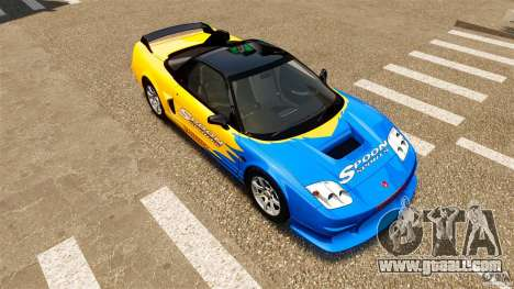 Honda NSX-R GT for GTA 4 upper view