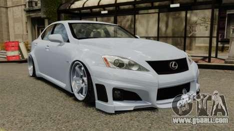 Lexus IS F 2009 for GTA 4