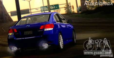 Subaru Legacy B4 2010 for GTA San Andreas back view