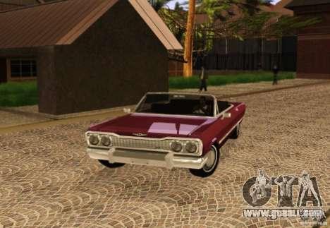 Savanna Detroit 1965 for GTA San Andreas